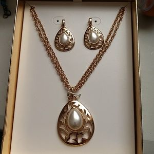 Necklace and Earrings on Gift Box
